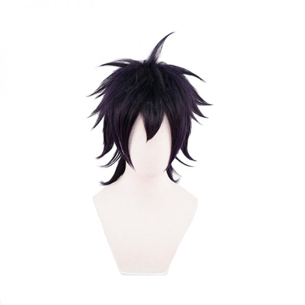 Anime JoJo s Bizarre Adventure Narancia Ghirga Cosplay Wigs Short Mix Black Purple Synthetic Hair For - Jojo's Bizarre Adventure Merch