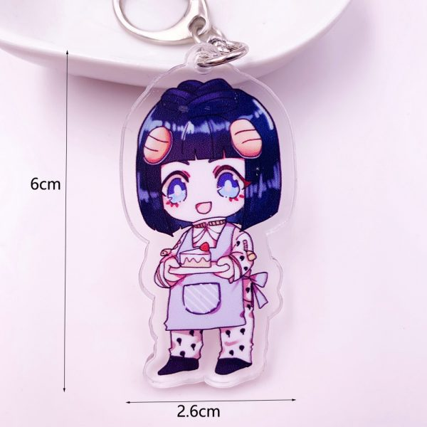 Anime JoJos Bizarre Adventure Acrylic Keychain Cartoon Jotaro Kujo Figure Keyring Gifts Key Holder Pendant Accessories 4 - Jojo's Bizarre Adventure Merch