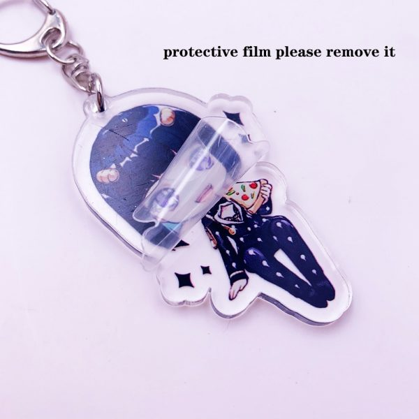 Anime JoJos Bizarre Adventure Acrylic Keychain Cartoon Jotaro Kujo Figure Keyring Gifts Key Holder Pendant Accessories 5 - Jojo's Bizarre Adventure Merch