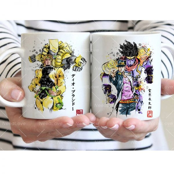 JOJO JoJo s Bizarre Adventure Ceramic 11 Oz White Coffee Mug 1 - Jojo's Bizarre Adventure Merch
