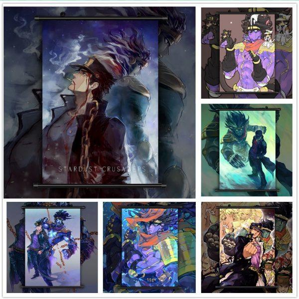 JoJo s Bizarre Adventure Kujo Jotaro Anime manga wall Poster Scroll - Jojo's Bizarre Adventure Merch