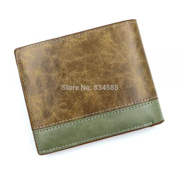 Anime JoJo Bizarre Adventure Wallet Khaki PU Leather Coin Purse 1 - Jojo's Bizarre Adventure Merch