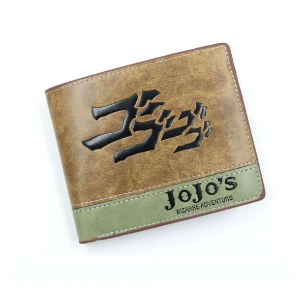 Anime JoJo Bizarre Adventure Wallet Khaki PU Leather Coin Purse - Jojo's Bizarre Adventure Merch