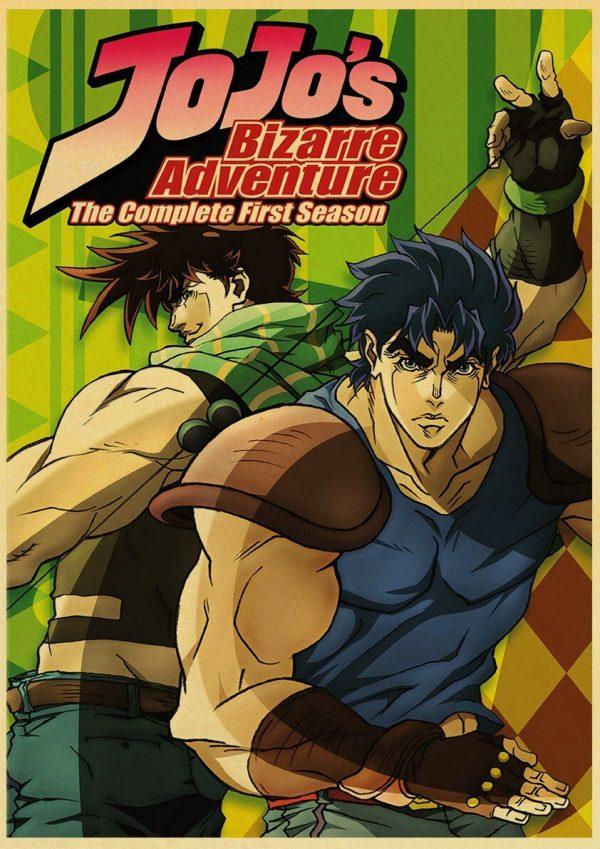 Anime JoJo s Bizarre Adventure JOJO Poster Action Anime retro Poster Painting Wall Art for Living 3 - Jojo's Bizarre Adventure Merch