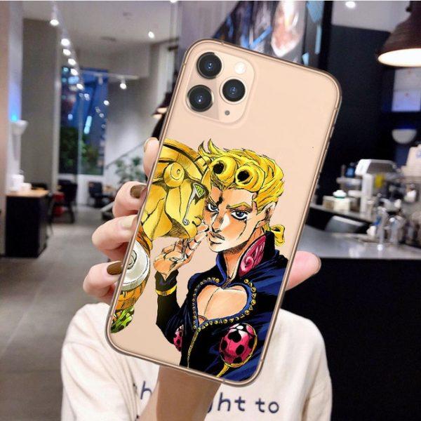 Anime JoJos Bizarre Adventure Phone Case for iPhone 12 Pro Cartoon Silicone Cover For iPhone 11 6.jpg 640x640 6 - Jojo's Bizarre Adventure Merch