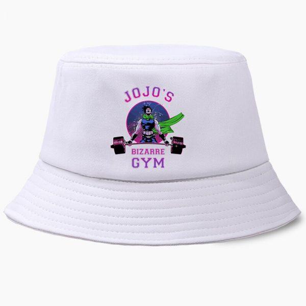Bob JoJo Bizarre Adventure Anime JOJOs Bucket Hats Summer Mens Panama Women Fisherman Hat Cotton Black 3 - Jojo's Bizarre Adventure Merch