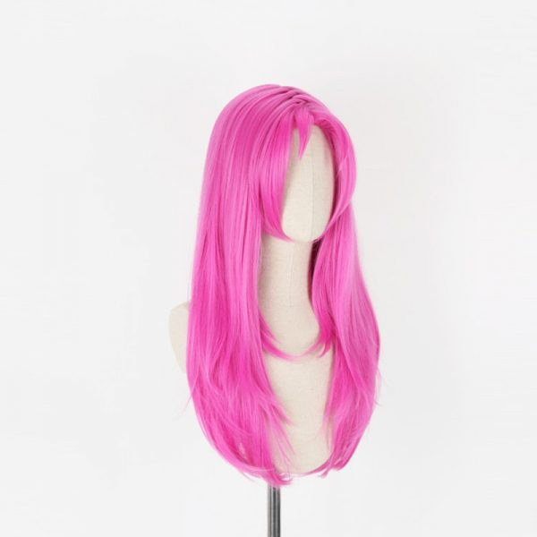 JOJO s Bizarre Adventure Golden Wind Diavolo Pink Long Wig Cosplay Costume Heat Resistant Synthetic Hair 1 - Jojo's Bizarre Adventure Merch