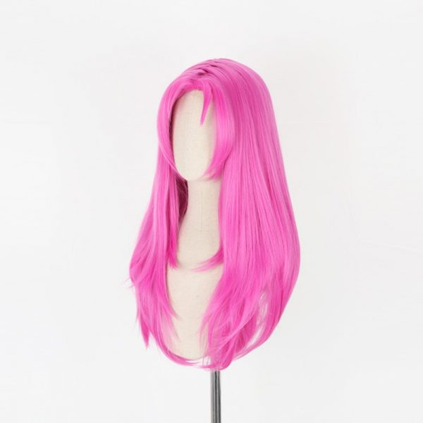 JOJO s Bizarre Adventure Golden Wind Diavolo Pink Long Wig Cosplay Costume Heat Resistant Synthetic Hair 2 - Jojo's Bizarre Adventure Merch