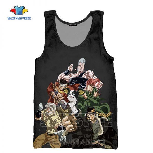 JoJo Bizarre Adventure Vest Men Undershirt Women Tank Tops 3D Print Anime Sleeveless Men s Shirt 4 - Jojo's Bizarre Adventure Merch