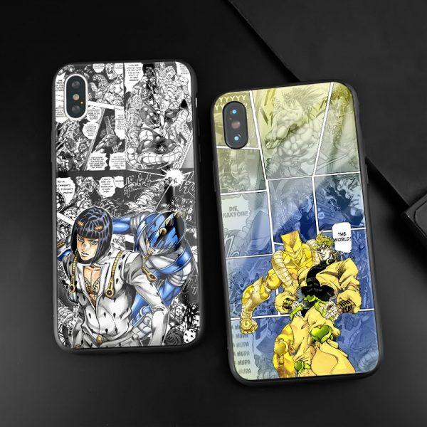 JoJo s Bizarre Adventure JoJo Anime tempered Glass Phone Case Shell cover For iPhone SE 6 2 - Jojo's Bizarre Adventure Merch