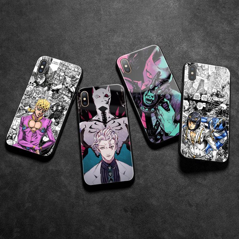 JoJo s Bizarre Adventure JoJo Anime tempered Glass Phone Case Shell cover For iPhone SE 6 - Jojo's Bizarre Adventure Merch