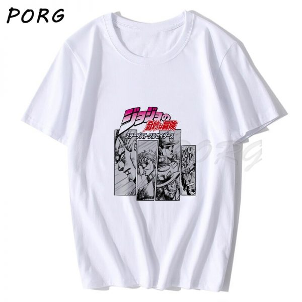 Jojos Bizarre Adventure Vintage Men Manga T shirt Harajuku Streetwear Cotton Camisetas Hombre Men Vaporwave Japan 1 - Jojo's Bizarre Adventure Merch