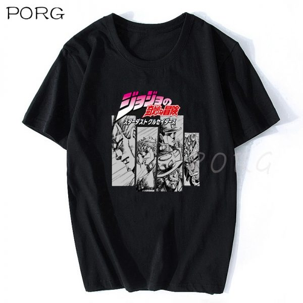 Jojos Bizarre Adventure Vintage Men Manga T shirt Harajuku Streetwear Cotton Camisetas Hombre Men Vaporwave Japan - Jojo's Bizarre Adventure Merch