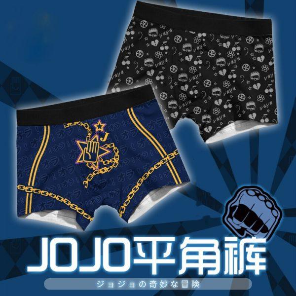 Men Women Cosplay Underwear JoJo s Bizarre Adventure Bruno Kira Trunks Briefs Boxers Panties JOJO Safety 1 - Jojo's Bizarre Adventure Merch