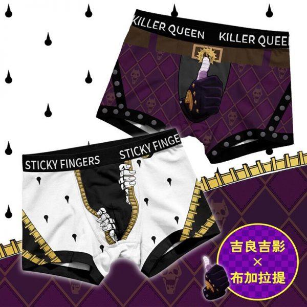 Men Women Cosplay Underwear JoJo s Bizarre Adventure Bruno Kira Trunks Briefs Boxers Panties JOJO Safety 2 - Jojo's Bizarre Adventure Merch