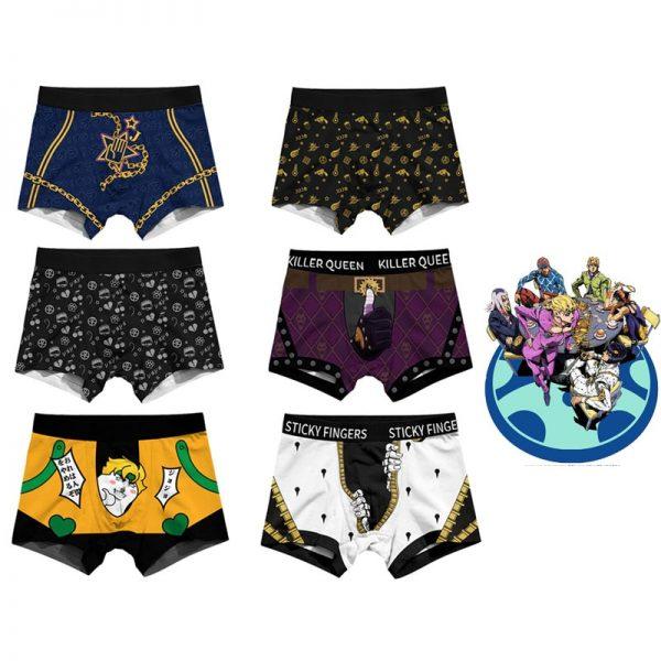 Men Women Cosplay Underwear JoJo s Bizarre Adventure Bruno Kira Trunks Briefs Boxers Panties JOJO Safety 3 1 - Jojo's Bizarre Adventure Merch