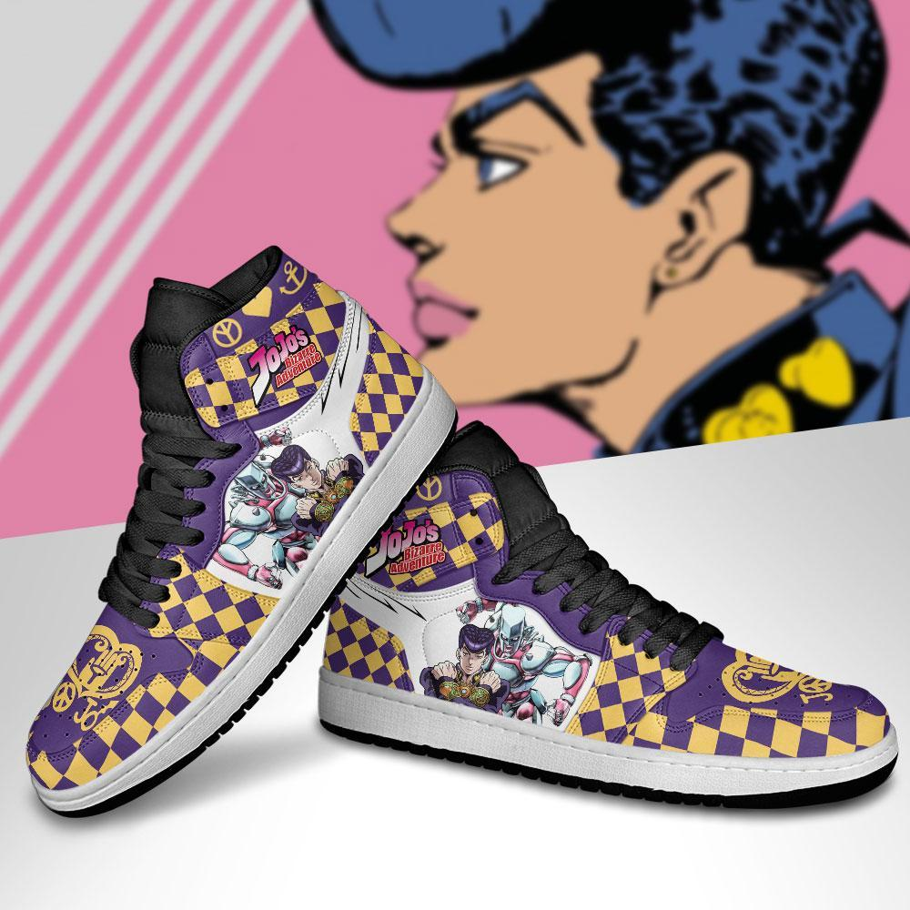 JJBA Shoes - Jordan Sneakers Josuke Higashikata Anime Shoes