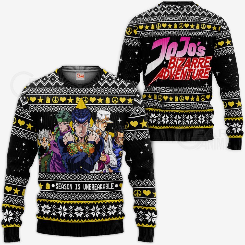 JJBA Sweater - Diamond is Unbreakable Ugly Christmas Sweater