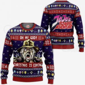 JJBA Sweater - Joseph Joestar Ugly Christmas Sweater Oh My God