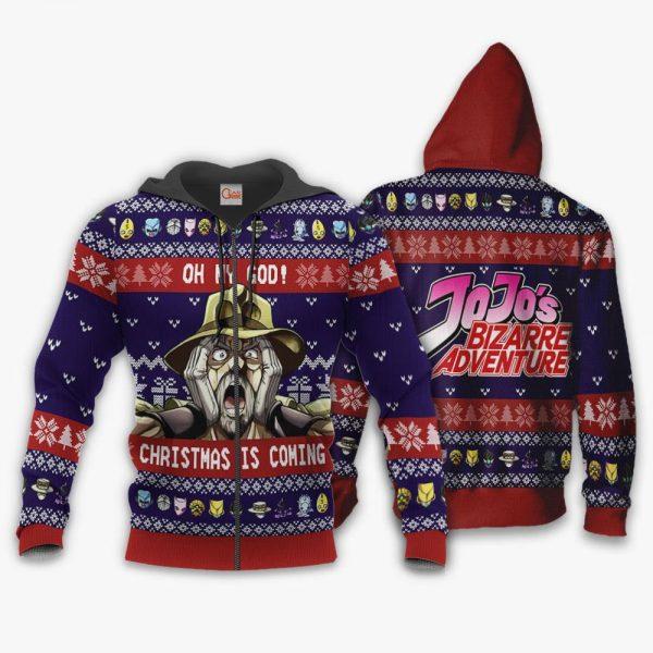 1103 AOP Jojo Joseph Josestar Ugly Sweater VA 1 Zip hoodie font and back n - Jojo's Bizarre Adventure Merch