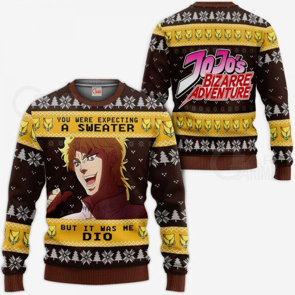 1103 AOP jojo bizarre adventure ugly sweater dio brando VA 3 MK sweatshirt F 2BB - Jojo's Bizarre Adventure Merch