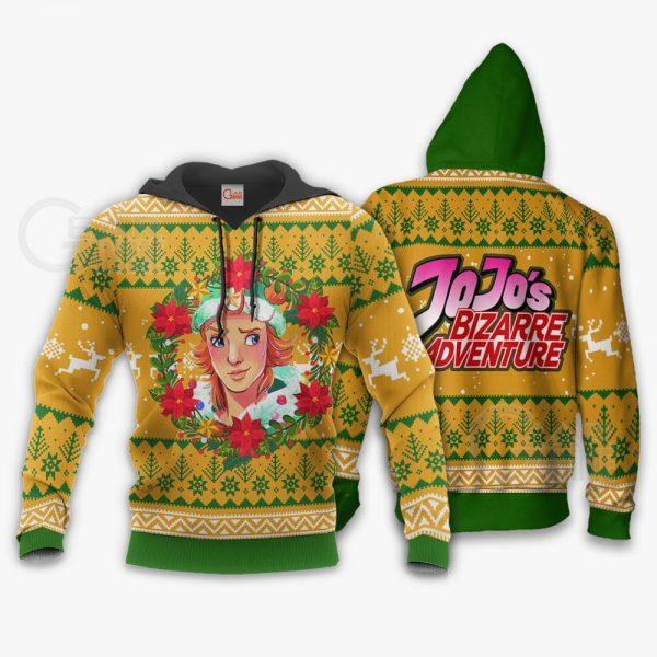 1104 AOP Jojo Characters Ugly Xmas VA Dio Brando 2 hoodie font and back - Jojo's Bizarre Adventure Merch