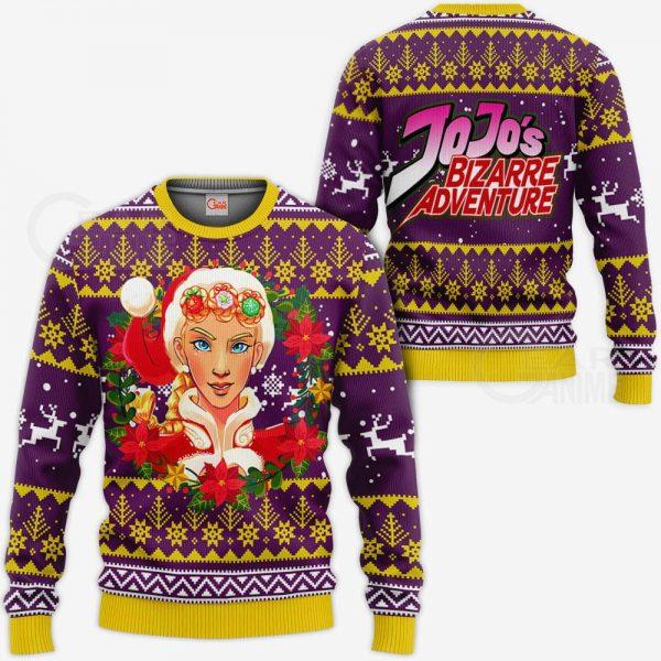1104 AOP Jojo Characters Ugly Xmas VA Giorno Giovanna  3 MK sweatshirt F 2BB - Jojo's Bizarre Adventure Merch