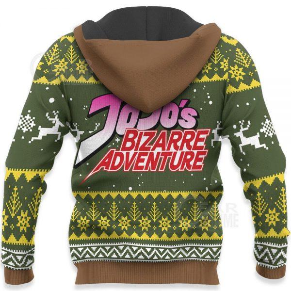 1104 AOP Jojo Characters Ugly Xmas VA Joseph Joestar 7 HD Back - Jojo's Bizarre Adventure Merch