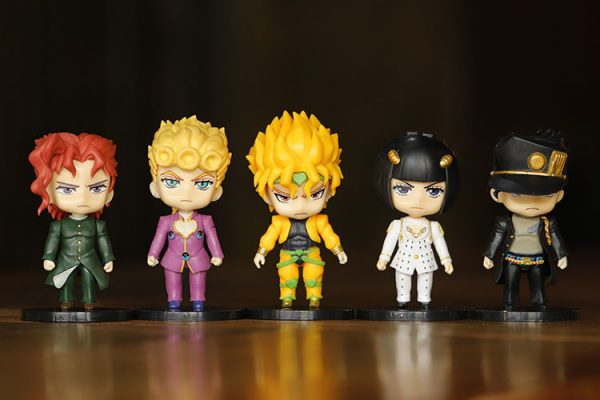 5pcs set JOJOs Bizarre Adventure Action Figure Toys PVC Model Giorno Giovanna Bruno Dolls 2 - Jojo's Bizarre Adventure Merch