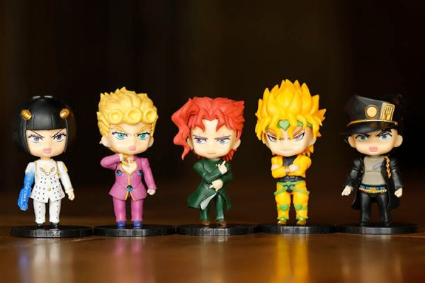 5pcs set JOJOs Bizarre Adventure Action Figure Toys PVC Model Giorno Giovanna Bruno Dolls 3 - Jojo's Bizarre Adventure Merch