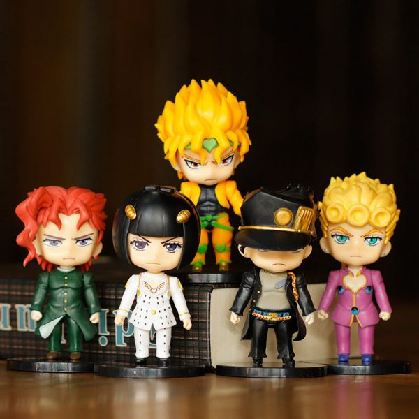 5pcs set JOJOs Bizarre Adventure Action Figure Toys PVC Model Giorno Giovanna Bruno Dolls - Jojo's Bizarre Adventure Merch