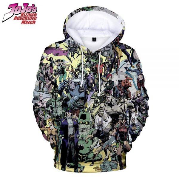 all jojo characters hoodie jojos bizarre adventure merch 643 - Jojo's Bizarre Adventure Merch