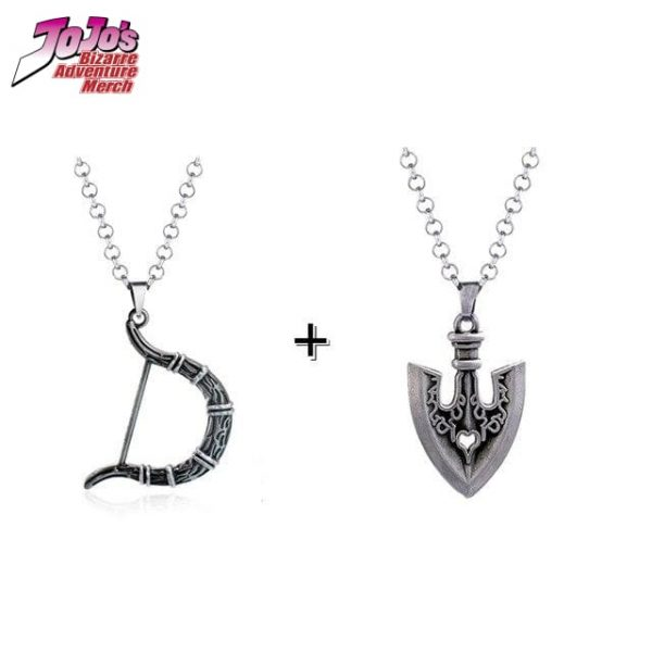 bow and arrow necklace jojos bizarre adventure merch 952 - Jojo's Bizarre Adventure Merch
