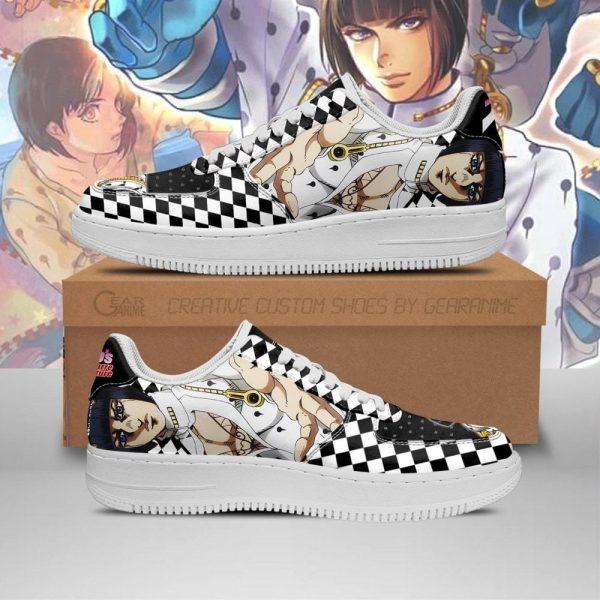 bruno bucciarati air force sneakers jojo anime shoes fan gift idea pt06 gearanime - Jojo's Bizarre Adventure Merch