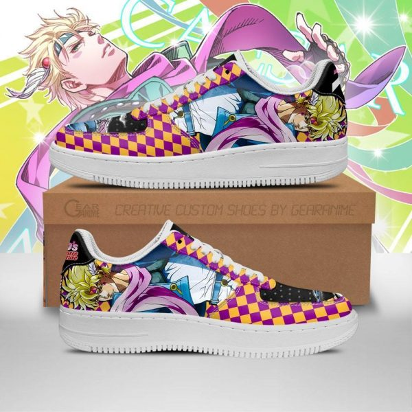 caesar anthonio zeppeli air force sneakers jojo anime shoes fan gift idea pt06 gearanime - Jojo's Bizarre Adventure Merch