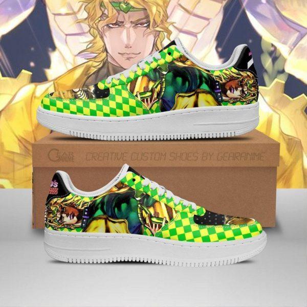 dio brando air force sneakers jojo anime shoes fan gift idea pt06 gearanime - Jojo's Bizarre Adventure Merch