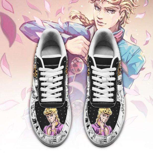giorno giovanna air force sneakers manga style jojos anime shoes fan gift pt06 gearanime 2 - Jojo's Bizarre Adventure Merch