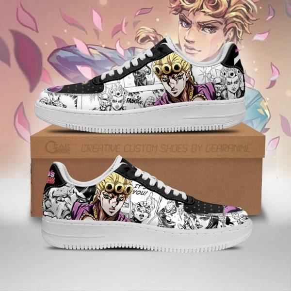 giorno giovanna air force sneakers manga style jojos anime shoes fan gift pt06 gearanime - Jojo's Bizarre Adventure Merch