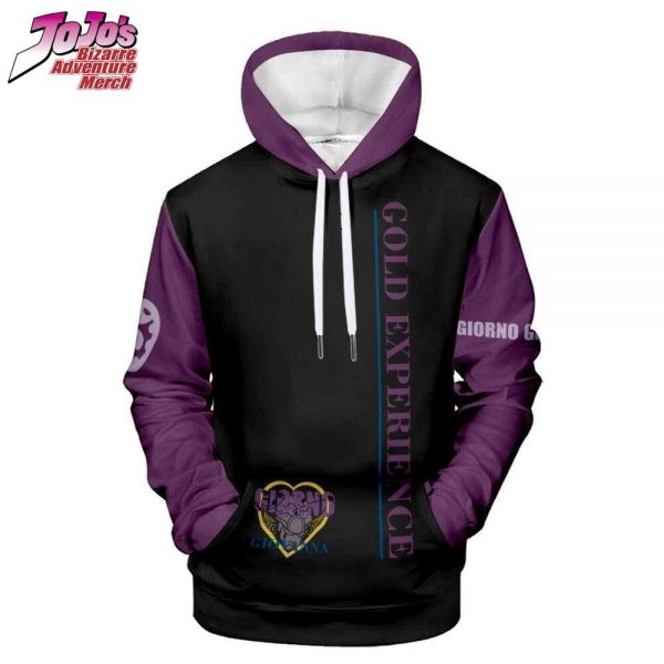 gold experience hoodie jojos bizarre adventure merch 855 - Jojo's Bizarre Adventure Merch