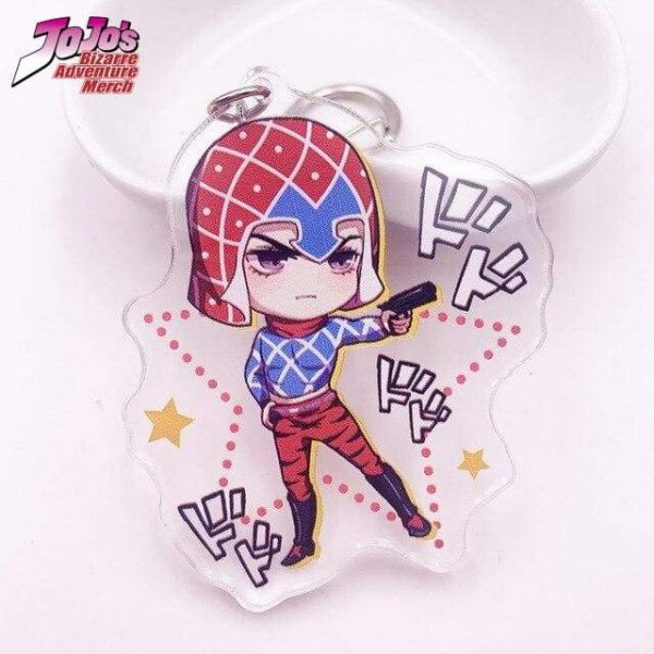 guido mista pose keychain jojos bizarre adventure merch 890 - Jojo's Bizarre Adventure Merch