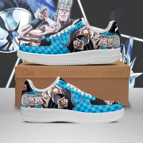 jean pierre polnareff air force sneakers jojo anime shoes fan gift idea pt06 gearanime - Jojo's Bizarre Adventure Merch