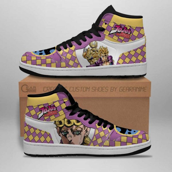 jojos bizarre adventure jordan sneakers giorno giovanna anime shoes gearanime 2 - Jojo's Bizarre Adventure Merch