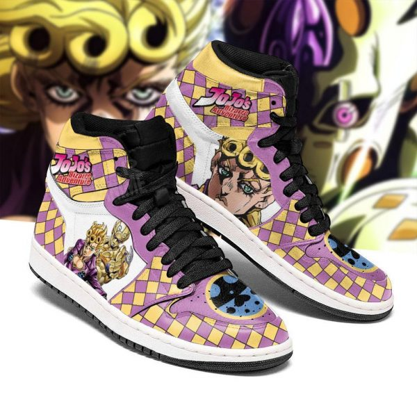 jojos bizarre adventure jordan sneakers giorno giovanna anime shoes gearanime 3 - Jojo's Bizarre Adventure Merch