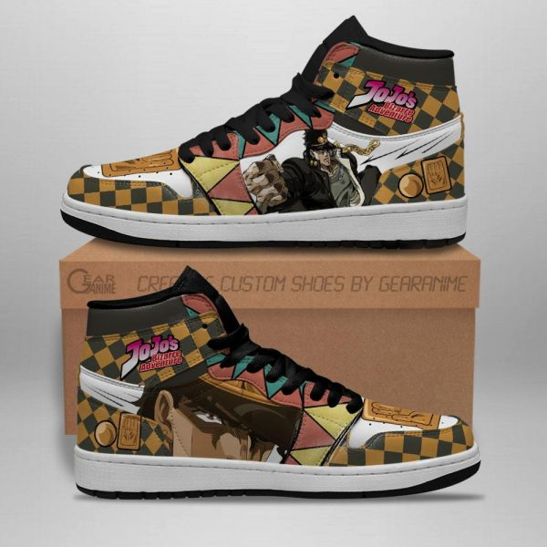 jojos bizarre adventure jordan sneakers jotaro kujo anime shoes gearanime 2 - Jojo's Bizarre Adventure Merch
