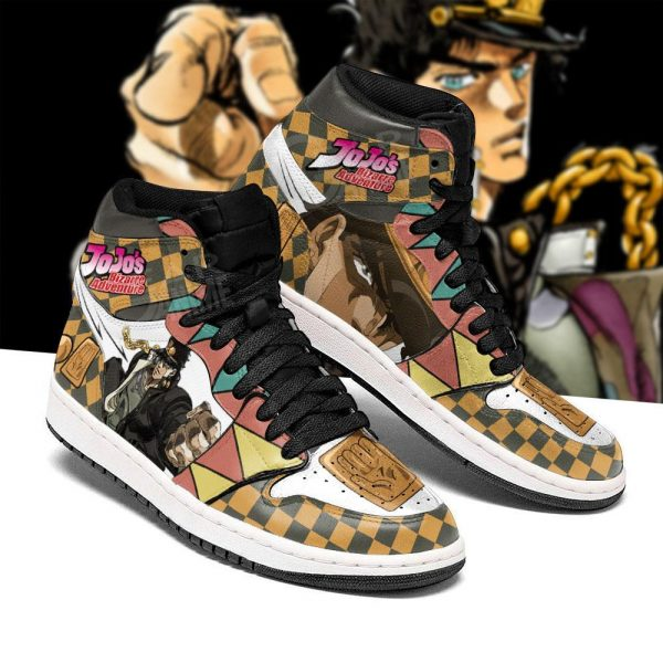jojos bizarre adventure jordan sneakers jotaro kujo anime shoes gearanime 3 - Jojo's Bizarre Adventure Merch