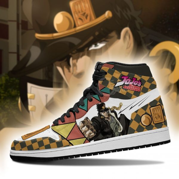jojos bizarre adventure jordan sneakers jotaro kujo anime shoes gearanime 4 - Jojo's Bizarre Adventure Merch