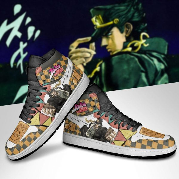 jojos bizarre adventure jordan sneakers jotaro kujo anime shoes gearanime 5 - Jojo's Bizarre Adventure Merch
