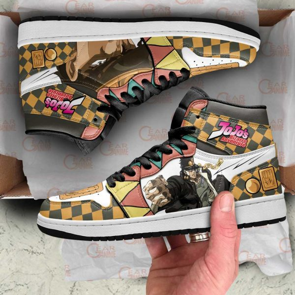 jojos bizarre adventure jordan sneakers jotaro kujo anime shoes gearanime - Jojo's Bizarre Adventure Merch