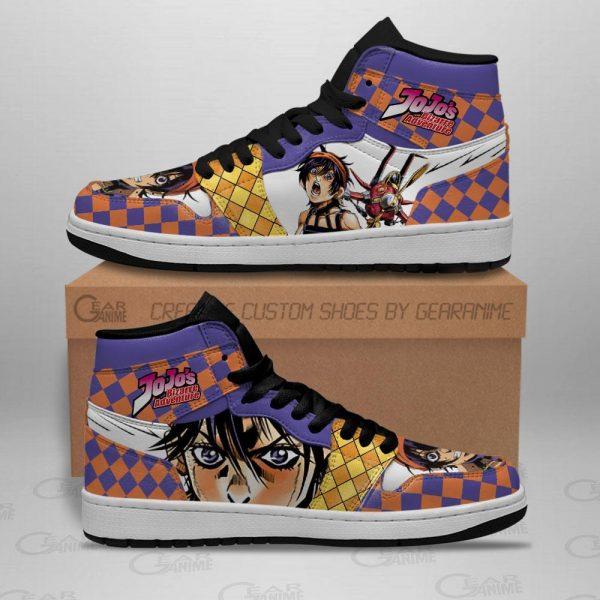 jojos bizarre adventure jordan sneakers narancia ghirga anime shoes gearanime 2 - Jojo's Bizarre Adventure Merch