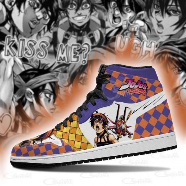 jojos bizarre adventure jordan sneakers narancia ghirga anime shoes gearanime 3 - Jojo's Bizarre Adventure Merch